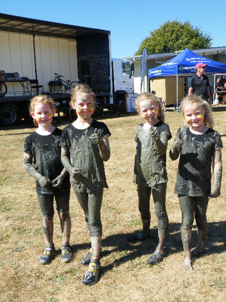 Caption: Fun was had by all - including these four Muddy Buddies!